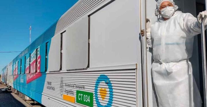 Serodino gestiona la llegada del tren sanitario a la región