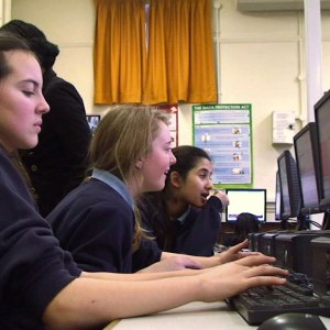 Students taking part in the online competition. Credit: I'm a Scientist