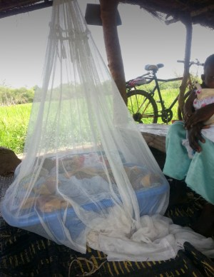 Children sleeping under an insecticide-treated bednet. Photo credit: Martin Donnelly