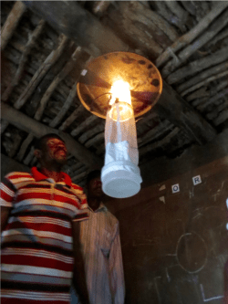 Mosquito light trap - one way to catch malaria-carrying mosquitoes