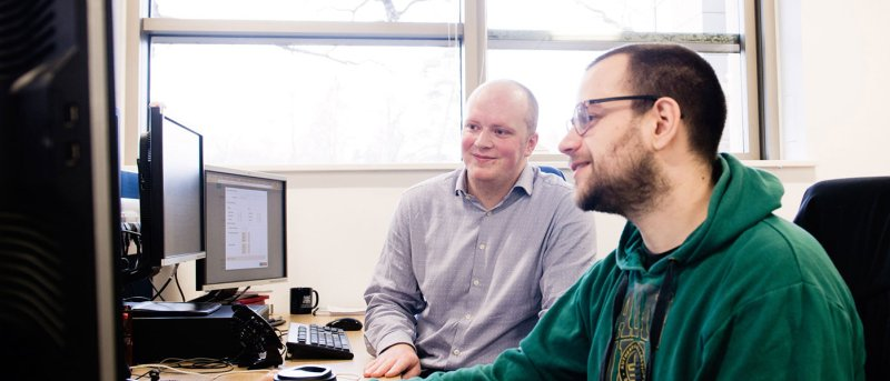 Peter works closely with research scientists and fellow software developers to create optimal ways of viewing and analysing genomic data. Image credit: Technicians Make It Happen
