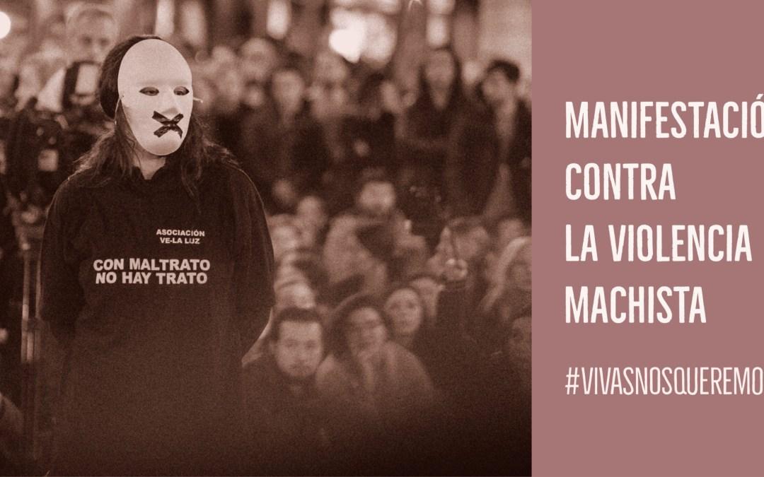 """Manifestación en la Puerta del Sol contra la violencia Machista en apoyo a la asociación """"Ve-la luz"""""""