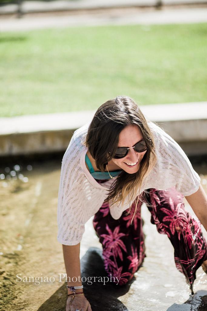 un refrescante baño en el Barranco del Alamín en Guadalajara