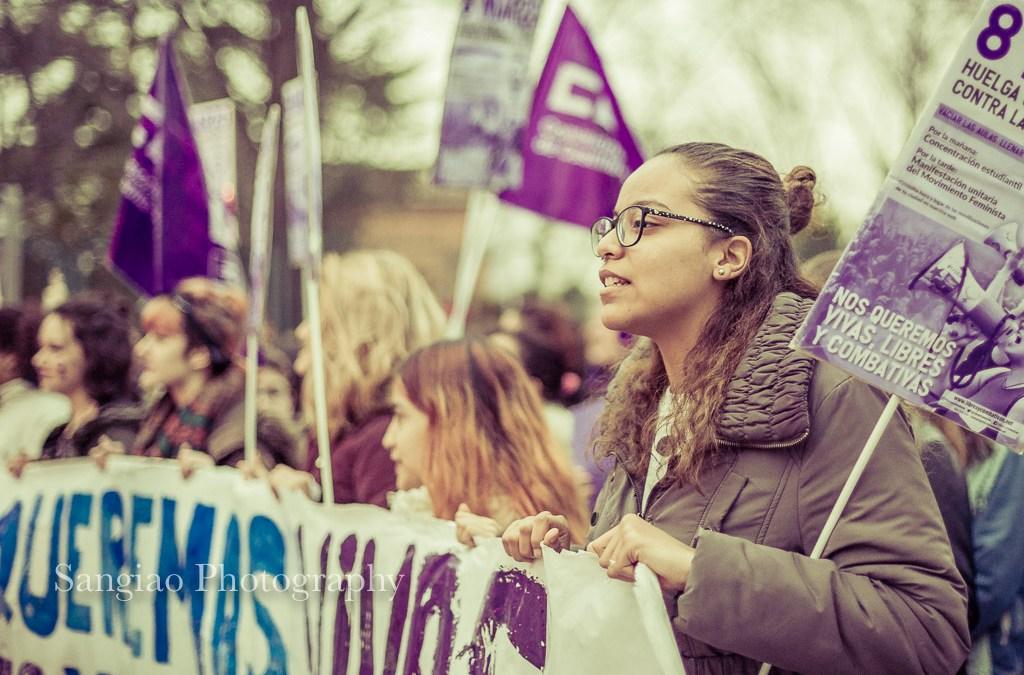Manifestación del 8M en Guadalajara (España) | Sangiao fotógrafo