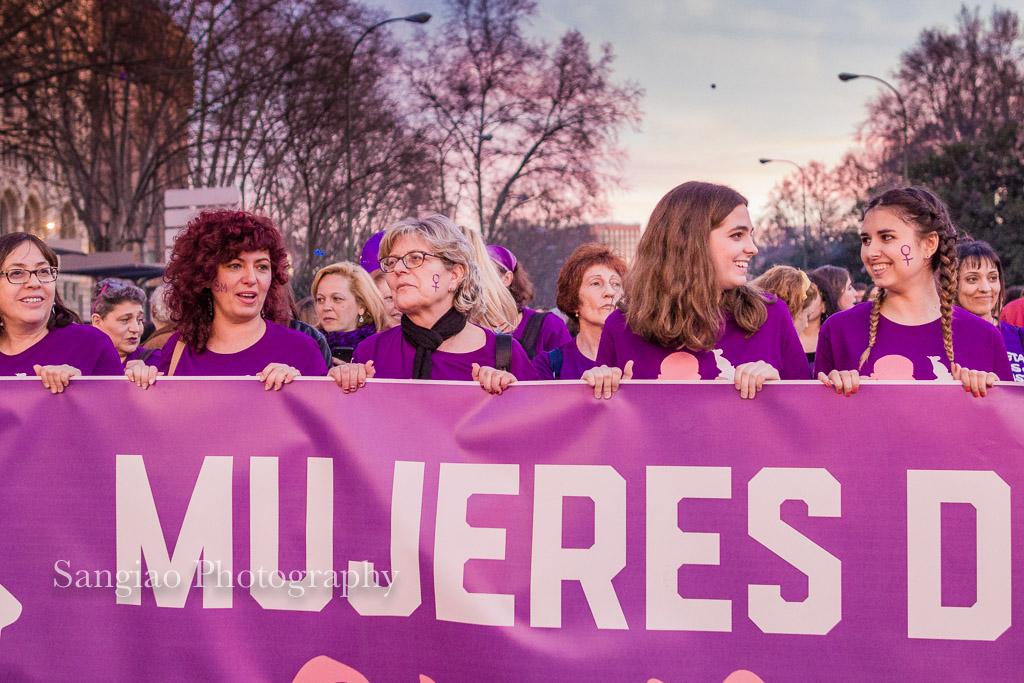 Manifestación Día Internacional de la Mujer Madrid 2017