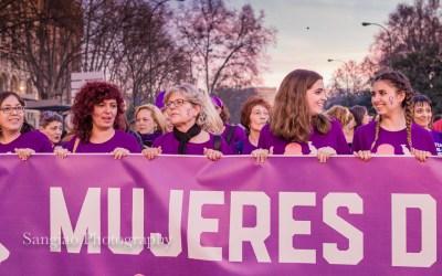 Fotos del Día Internacional de la mujer en Madrid 8 de marzo de 2017