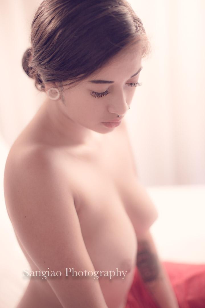 Boudoir de desnudo artístico fotografía de mujer