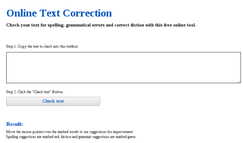 online Text Correction