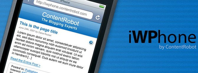 Automatically Reformat WordPress Content Optimized For Apple iPhone, iPod Touch & Android Viewing