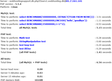CPU Test from WordPress admin