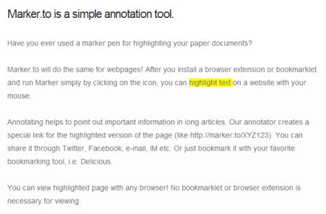 Online Page Marker