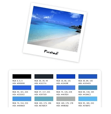 Instantly Create Color Palette From Any Image On Internet