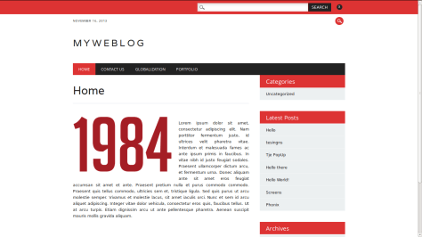 The Newswire: Free Responsive WordPress Theme In Red, While & Black ...