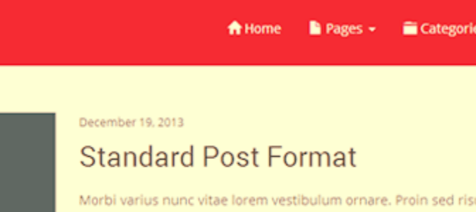 Future: New Red & Responsive WordPress Theme With Bootstrap 3 Framework