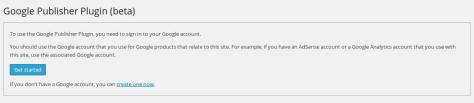 Google Publisher Plugin (beta) 1