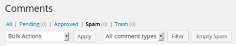 How To Batch Delete Spam Comments In WordPress?