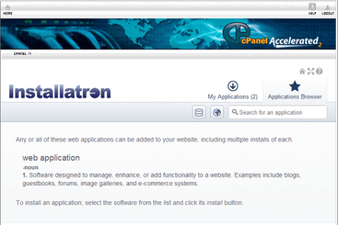 Installatron Applications Browser