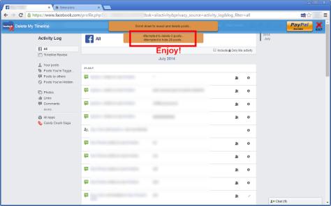 Facebook - Delete My Timeline 4