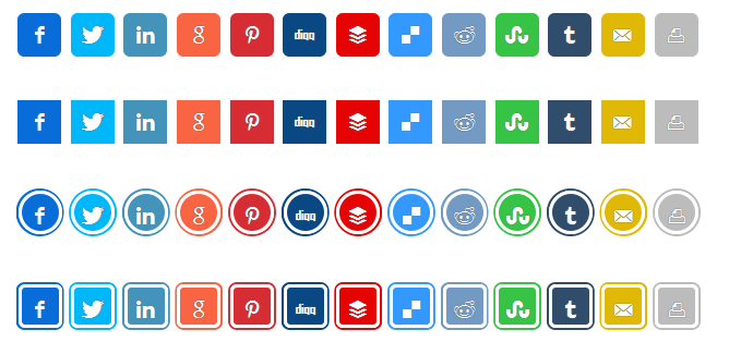 How To Use Custom Colors On Social Sharing Buttons In WordPress?