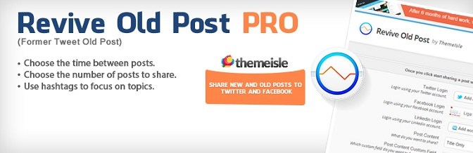 Automatically Promote Old WordPress Posts On Facebook, Twitter And LinkedIn