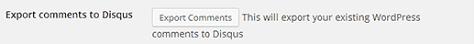 Export Import WordPress Disqus 2