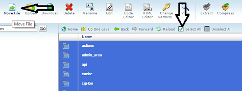 cPanel Select All