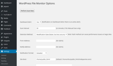 WordPress File Monitoring