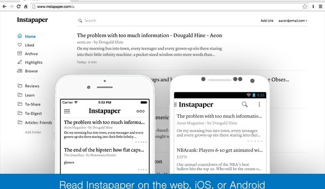 Save Anything To Read Offline On Android, iPhone & Kindle