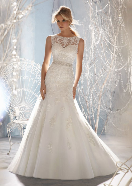 mori lee mermaid wedding gown