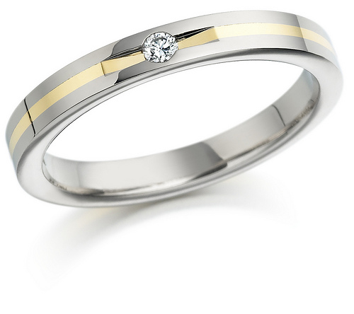 Bien diamond platinum wedding ring 3