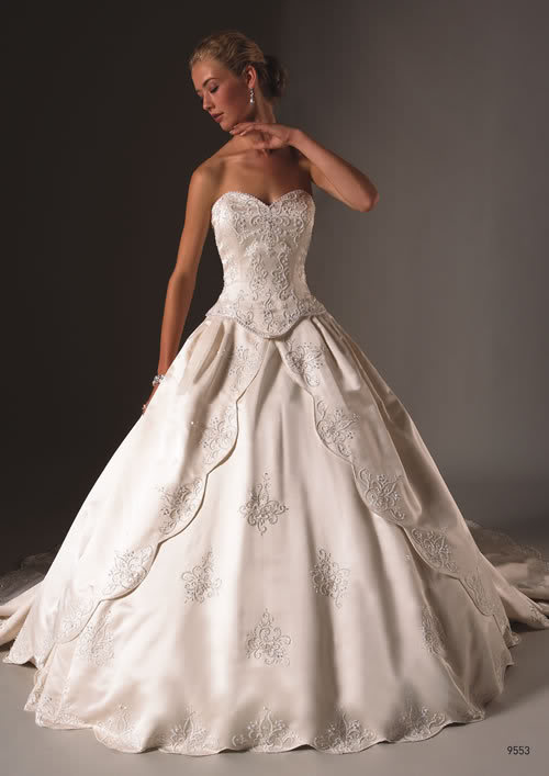 silk satin wedding gown