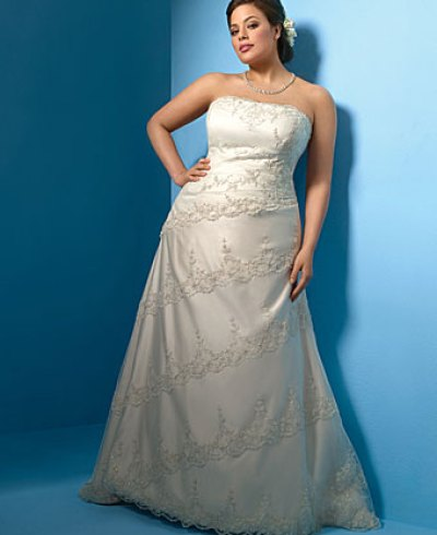 plus size wedding dress by Alfred Angelo