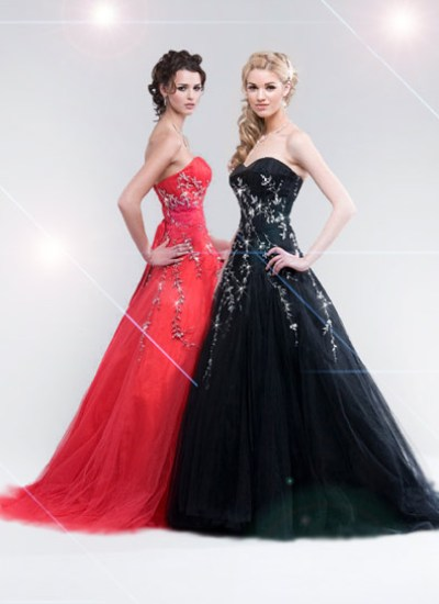 amelia black and red prom dresses