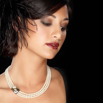 updo bridal hairstyle with necklace