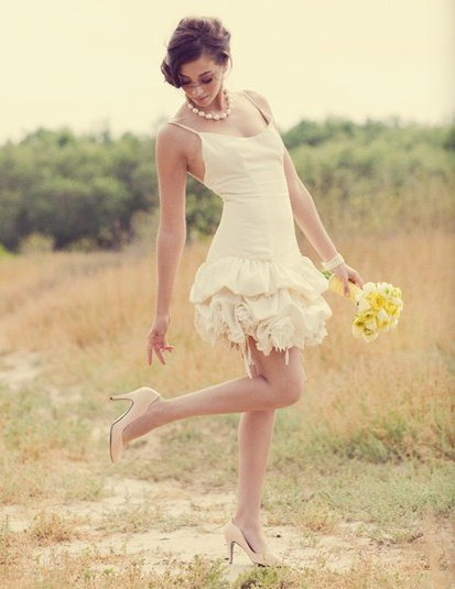 simple mini wedding dress