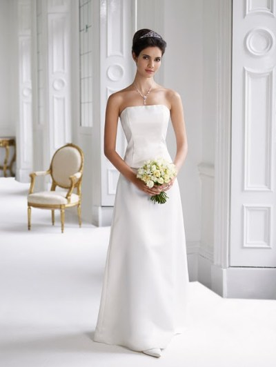 ideal simple wedding dress