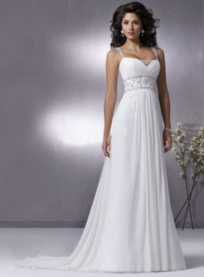 chiffon summer wedding dresses