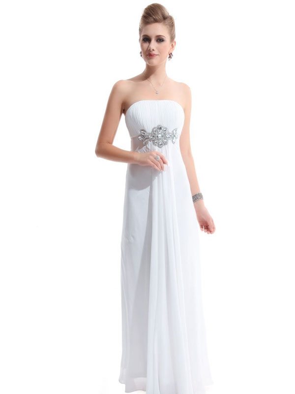 elegant empire chiffon bridesmaid dress