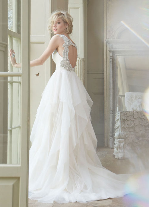 hayley paige a-line natural waist bridal gown