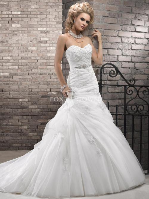 organza and lace wedding dresses