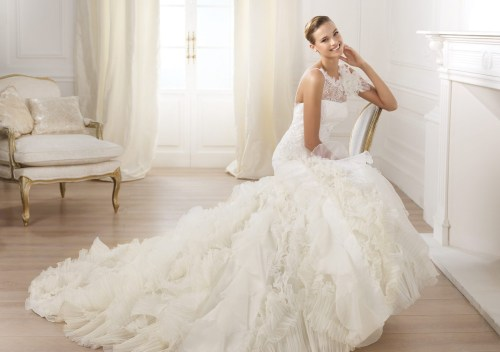 organza mermaid wedding dresses