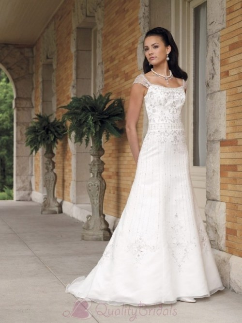 organza wedding dresses with sleeves