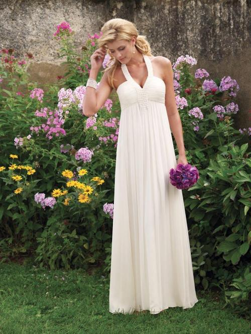 Simple Halter Wedding Dresses for Creating Modest Bridal Look ...