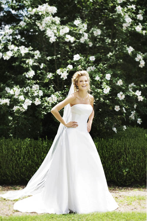 white spring wedding dress