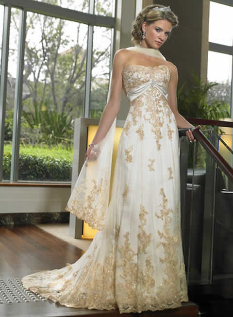 colored lace tulle wedding dress