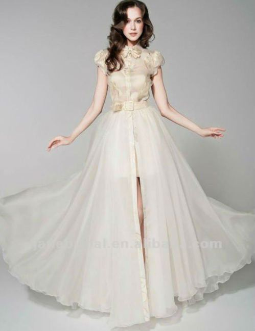 cheap wedding dress with detachable skirt