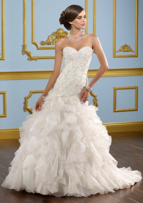 wedding dresses with beading on top