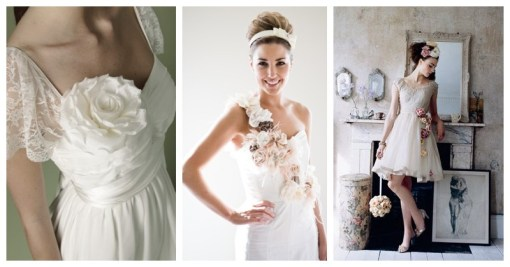 wedding dresses with flower accents