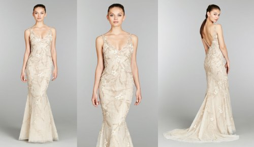wedding dresses with gold beading