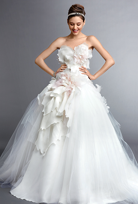 A collection of gorgeous wedding dresses with flower for White wedding dress with black accents